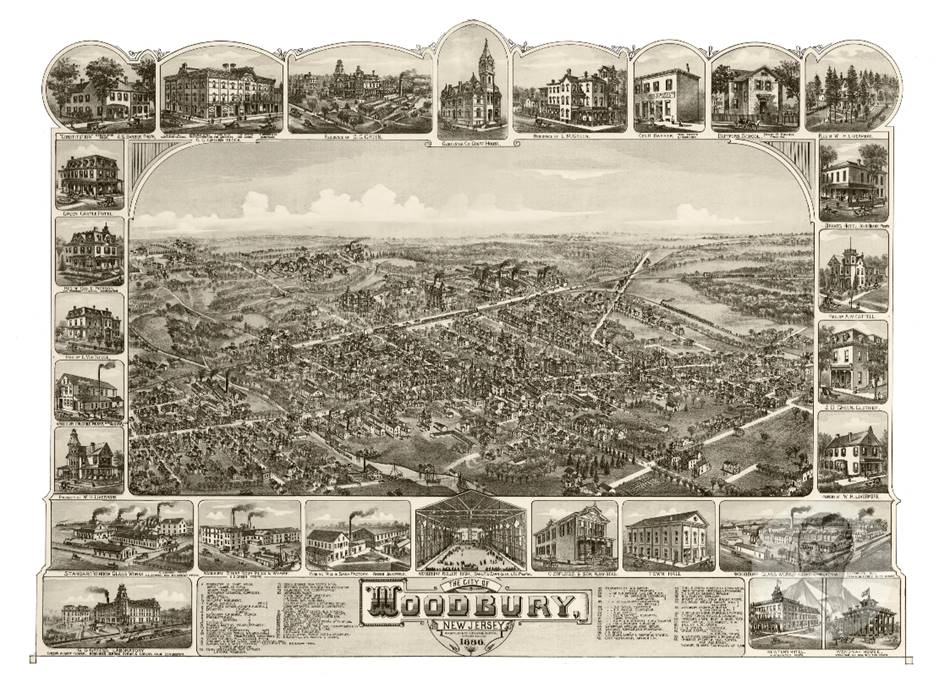 Historic Map of Woodbury